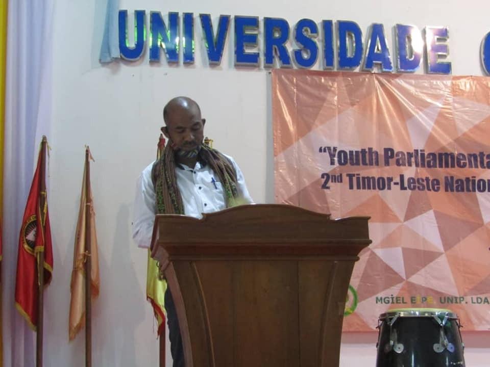 DJ David Tomas De Deus, Hatoo Diskursu Abertura Iha Timor-Leste National Varsity English Debating